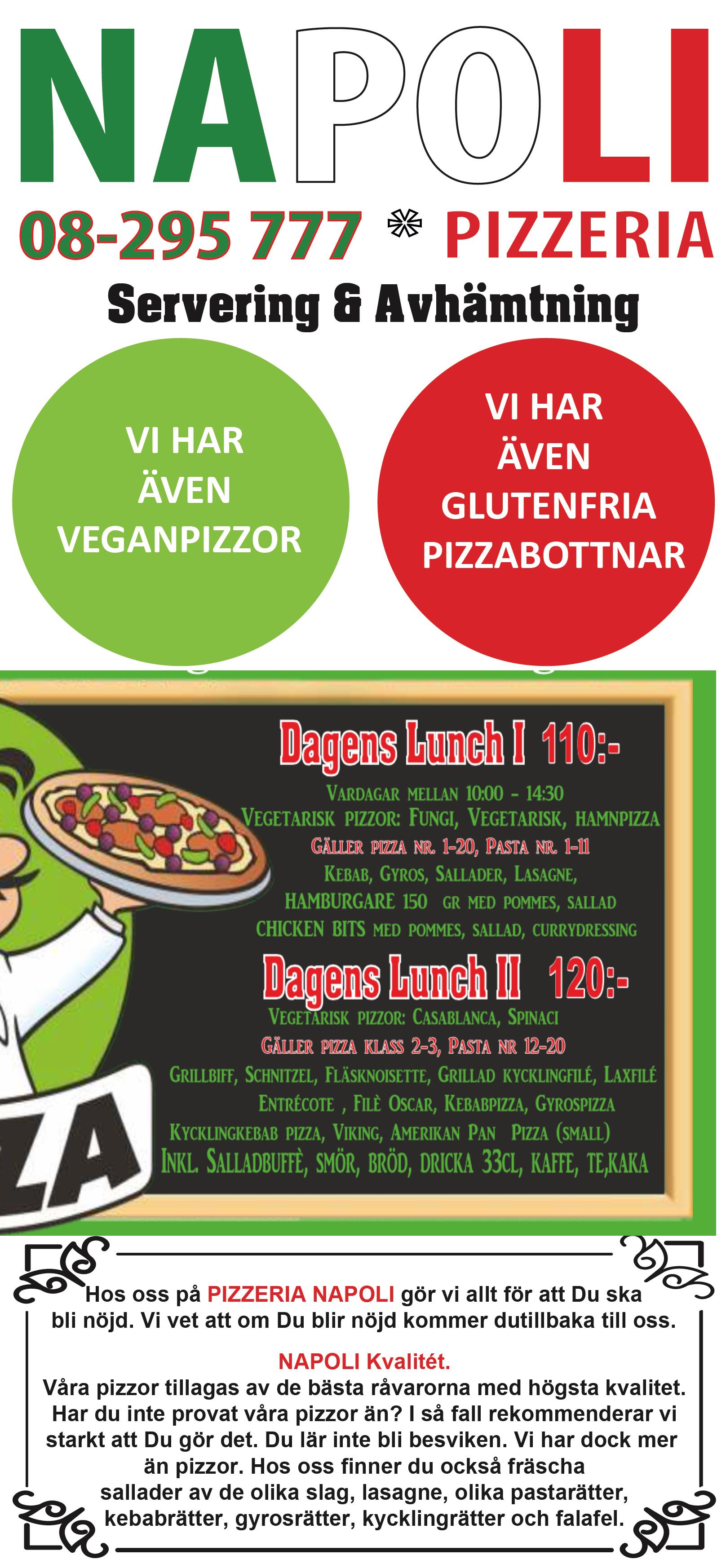 pizzeria prisma haninge meny